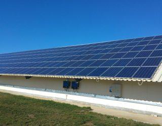 115kw installation in Fish Farm Bulgaria Modules Jinko Wing Vico Export Solar Energy